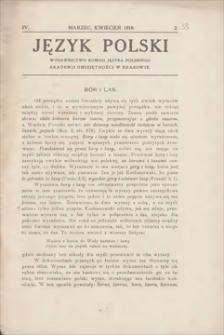 Język Polski : wydawnictwo Komisji Języka Polskiego Akademji Umiejętności w Krakowie. R. 4, 1919, z. 2 (marzec, kwiecień)