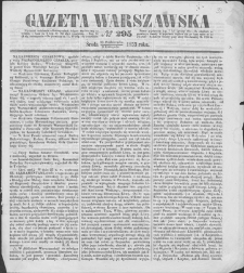 Gazeta Warszawska. 1853, nr 295 (28 X/9 XI)