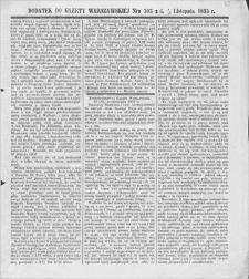 Gazeta Warszawska. 1853, dod. do nr 303 (5/17 XI)