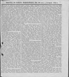 Gazeta Warszawska. 1853, dod. do nr 306 (8/20 XI)
