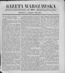 Gazeta Warszawska. 1853, nr 307 (9/21 XI)
