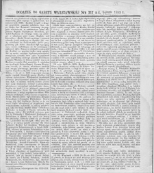 Gazeta Warszawska. 1853, dod. do nr 317 (19 XI/1 XII)