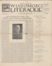 Wiadomości Literackie. R. 2, 1925, nr 28 (80), 12 VII