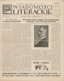 Wiadomości Literackie. R. 2, 1925, nr 41 (93), 11 X