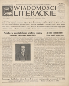Wiadomości Literackie. R. 2, 1925, nr 43 (95), 25 X