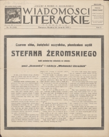 Wiadomości Literackie. R. 2, 1925, nr 48 (100), 29 XI