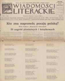 Wiadomości Literackie. R. 3, 1926, nr 1 (105), 3 I