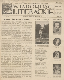 Wiadomości Literackie. R. 3, 1926, nr 9 (113), 28 II