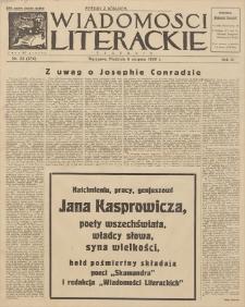 Wiadomości Literackie. R. 3, 1926, nr 32 (136), 8 VIII