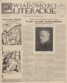 Wiadomości Literackie. R. 3, 1926, nr 39 (143), 26 IX