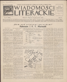 Wiadomości Literackie. R. 3, 1926, nr 41 (145), 10 X