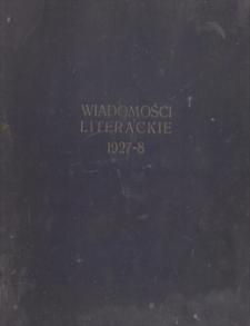 Wiadomości Literackie. R. 4, 1927, nr 3 (159), 16 I