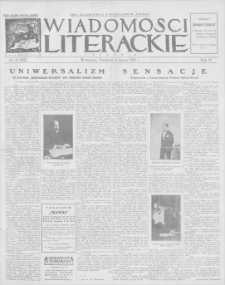 Wiadomości Literackie. R. 4, 1927, nr 6 (162), 6 II