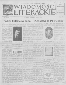 Wiadomości Literackie. R. 4, 1927, nr 9 (165), 27 II