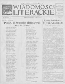 Wiadomości Literackie. R. 4, 1927, nr 10 (166), 6 III