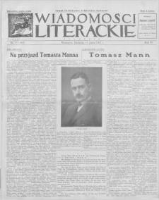 Wiadomości Literackie. R. 4, 1927, nr 11 (167), 13 III