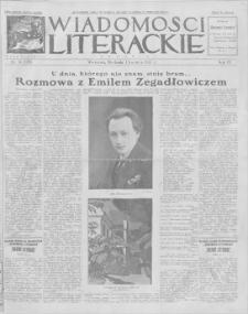Wiadomości Literackie. R. 4, 1927, nr 14 (170), 3 IV