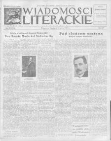 Wiadomości Literackie. R. 4, 1927, nr 20 (176), 15 V