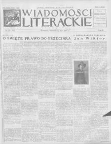 Wiadomości Literackie. R. 4, 1927, nr 29 (185), 17 VII