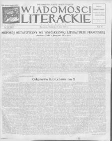 Wiadomości Literackie. R. 4, 1927, nr 31 (187), 31 VII