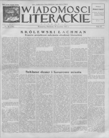 Wiadomości Literackie. R. 4, 1927, nr 38 (194), 18 IX