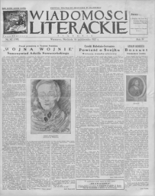 Wiadomości Literackie. R. 4, 1927, nr 42 (198), 16 X