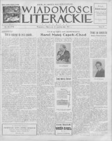 Wiadomości Literackie. R. 4, 1927, nr 43 (199), 23 X