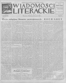 Wiadomości Literackie. R. 4, 1927, nr 45 (201), 6 XI