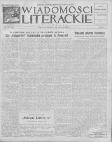 Wiadomości Literackie. R. 4, 1927, nr 46 (202), 13 XI