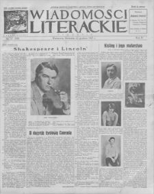 Wiadomości Literackie. R. 4, 1927, nr 52 (208), 25 XII
