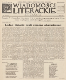 Wiadomości Literackie. R. 14, 1937, nr 30 (716), 18 VII