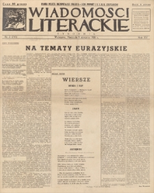 Wiadomości Literackie. R. 15, 1938, nr 2 (741), 9 I