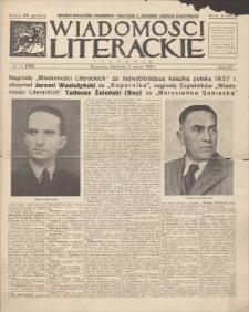 Wiadomości Literackie. R. 15, 1938, nr 11 (750), 13 III