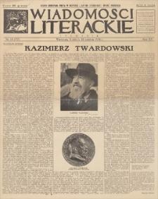 Wiadomości Literackie. R. 15, 1938, nr 18 (757), 24 IV