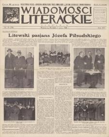 Wiadomości Literackie. R. 15, 1938, nr 19 (758), 1 V